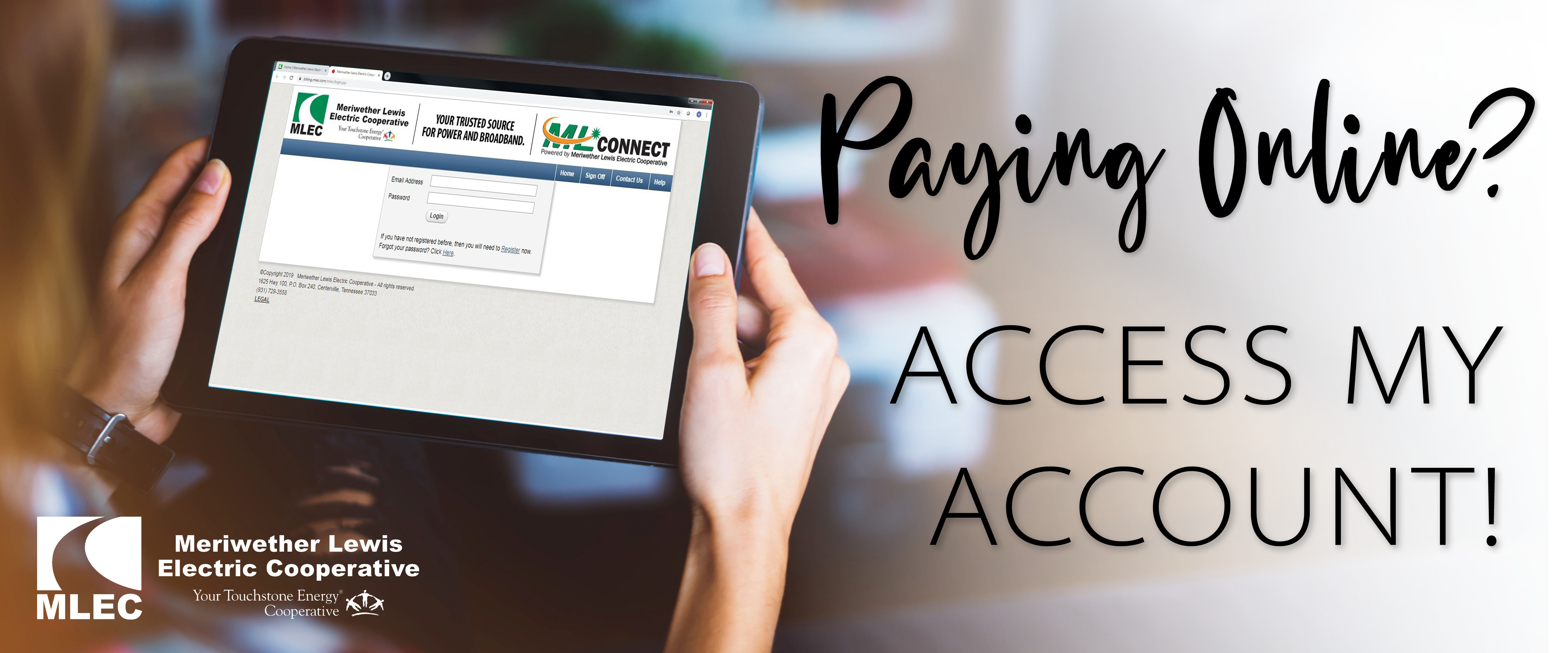 Paying online? Access your account!